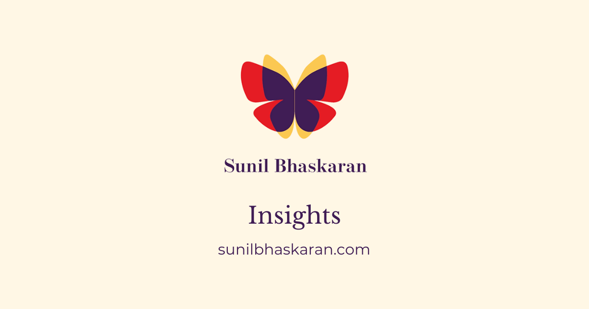 Sunil Bhaskaran insights